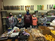 Students volunteering at the Food Bank