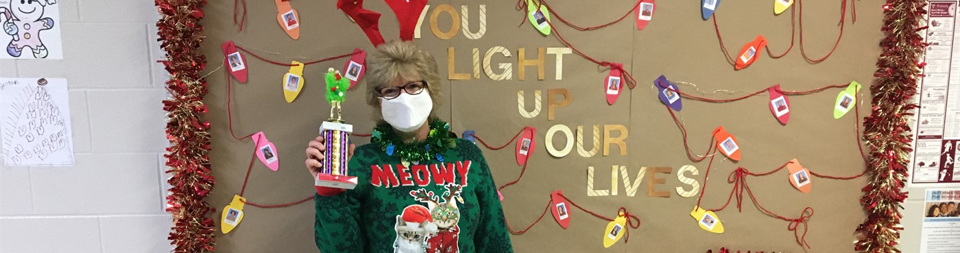 Ugly Christmas Sweater contest winner