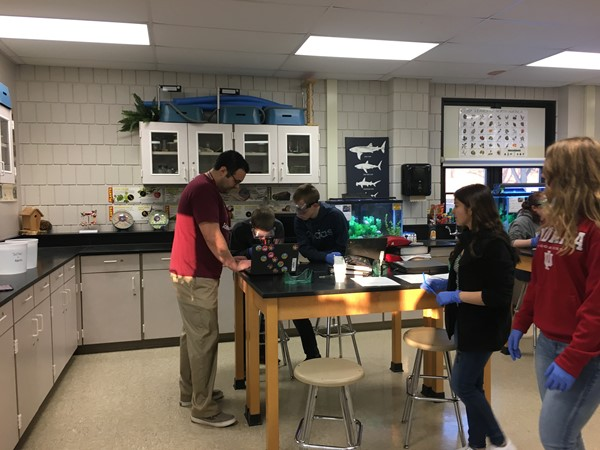 Students in Mr. Davis' 1st period Biology class conducted a lab where the invested the relationship between plant cells and the Krebs Cycle.