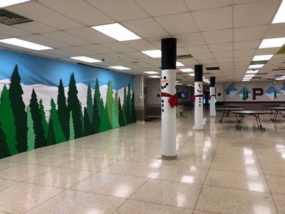 Winter Decor HS Commons