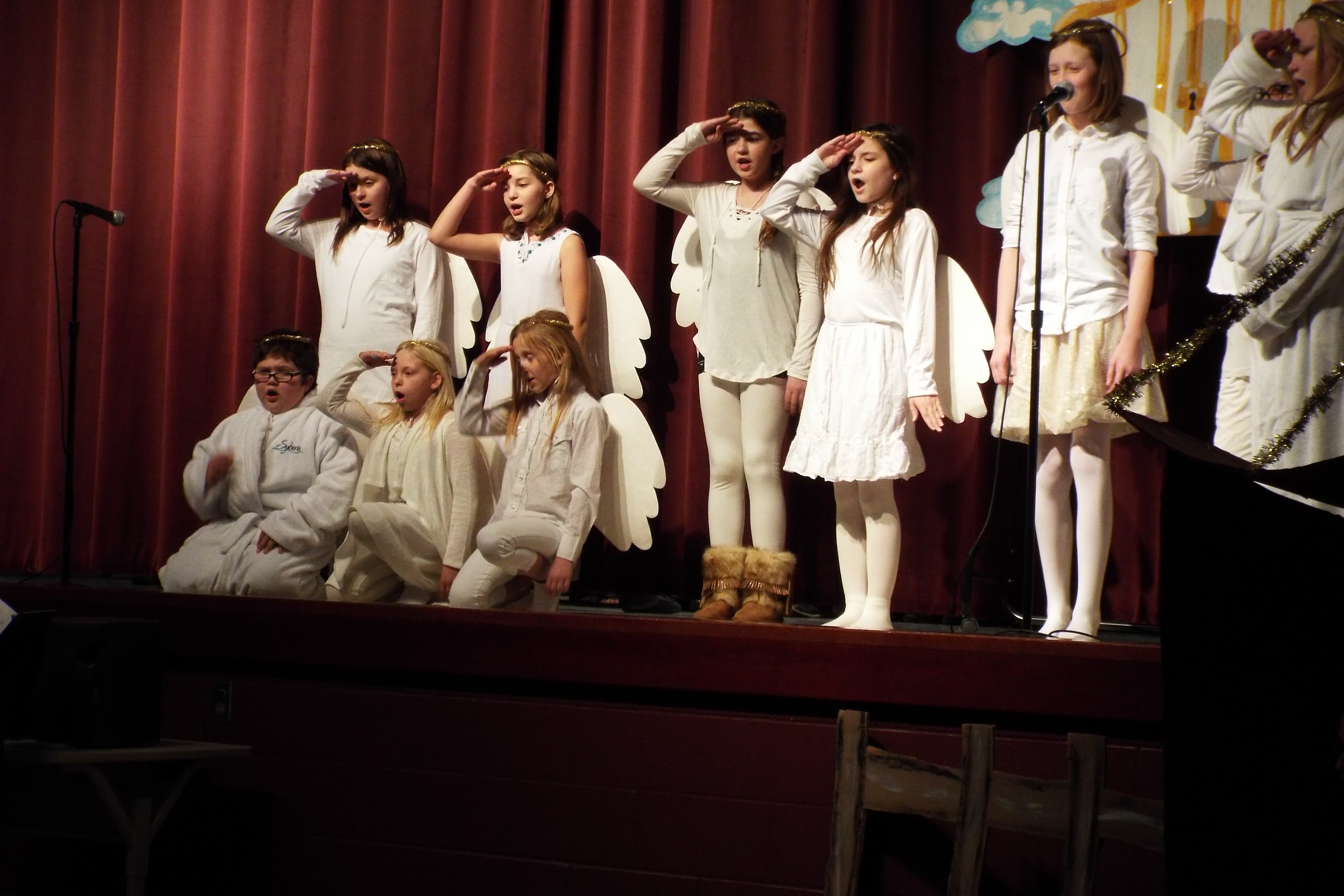 Angels in the Christmas Program